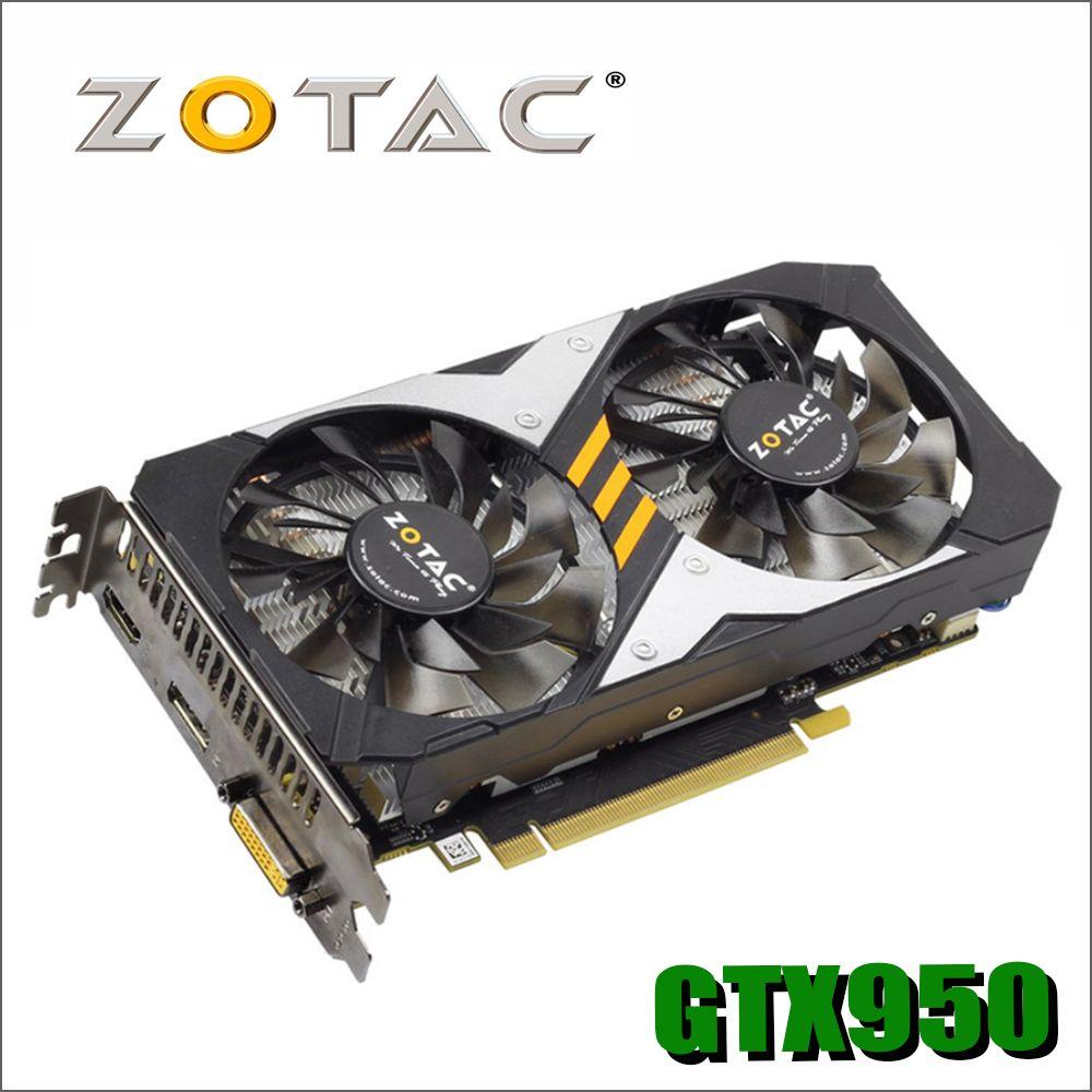 ZOTAC Carte Vidéo GeForce GTX950 2GD5 128Bit GDDR5 Cartes Graphiques pour nVIDIA Carte GTX 950 2g Dévastateurs Hdmi Dvi gtx960 750 750ti