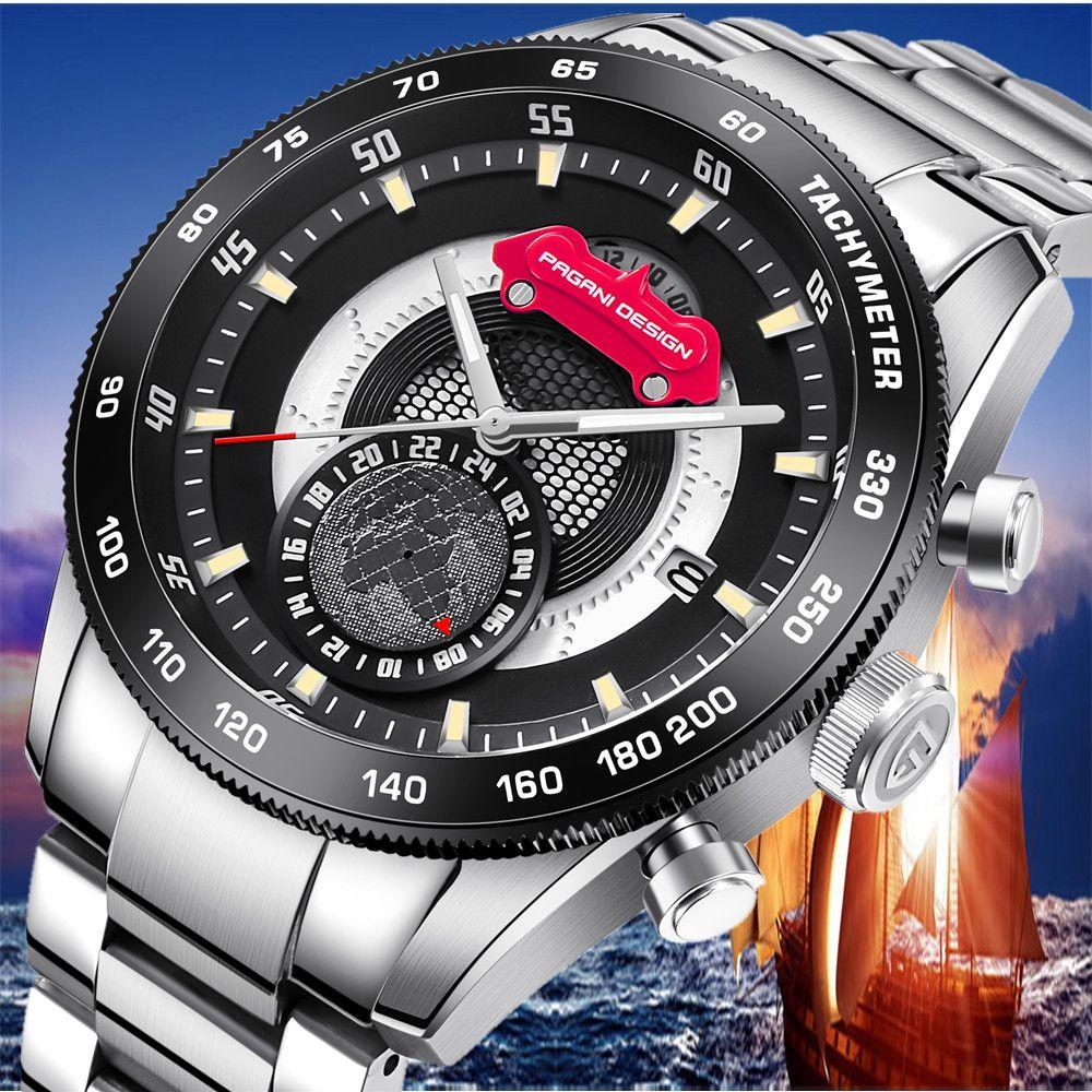 2019 PAGANI DESIGN Marke Neue Männer Uhren Reloj Hombre Mode Chronograph Quarz Herren Wasserdichte Uhr Uhr erkek kol saati