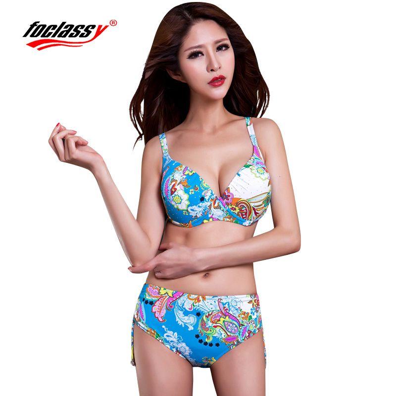 Fochic maillot de bain Bikini 2017 grande taille string ensembles maillots de bain femmes maillot de bain Bandeau baigneur maillot de bain vêtements de plage