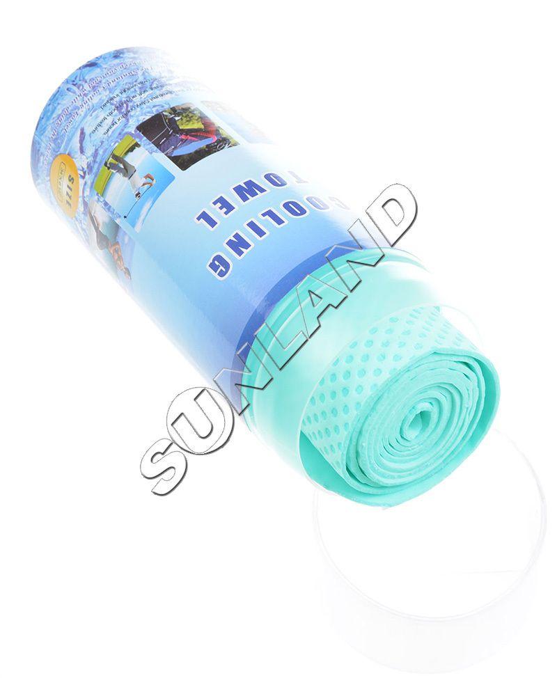 Sunland vinyle sport serviette de refroidissement entraînement sueur serviette serviette froide 17x85 cm