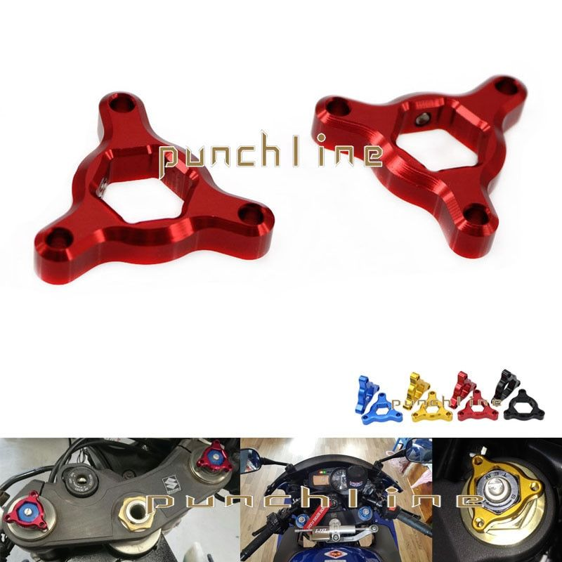 For DUCATI M1100 S Monster Steetfighter S 1098 S/Tricolor/R Motorcycle 17mm CNC Aluminum Suspension Fork Preload Adjusters Red