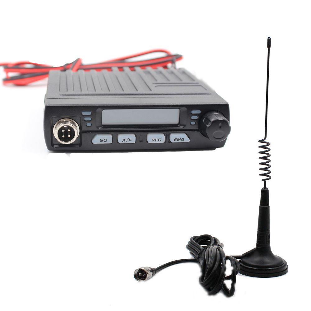 AC-001 Ultra Compact AM/FM Mini Mobie 8W CB Radio 26MHz 27MHz 10 Meter Amateur Mobile Radio Albrecht AE-6110 Citizen Band Radio