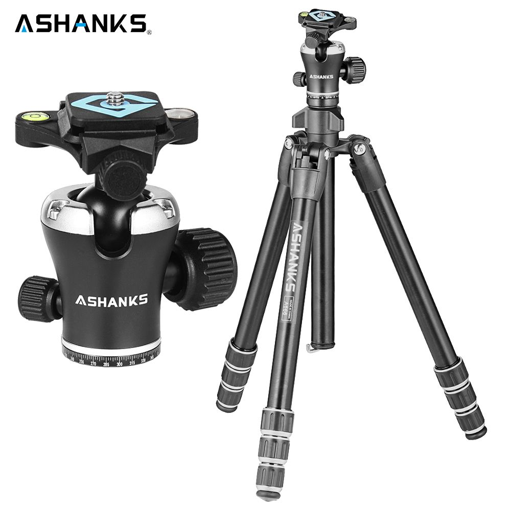 ASHANKS A666 Stativ Kamera 55,9 ''/142 cm Professionelle VideoTravel Kamerastativ Aluminium Kugelkopf Kompakt für Digitale SLR DSLR