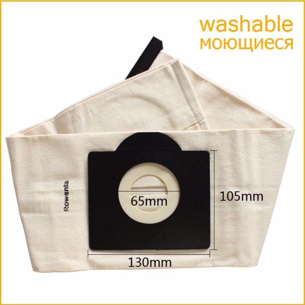 Vacuum Cleaner Bag Washable Dust Bag for Vacuum Cleaner Rowenta Karcher HR6675 nalaska fakir fif wirbel soteco,foma etc