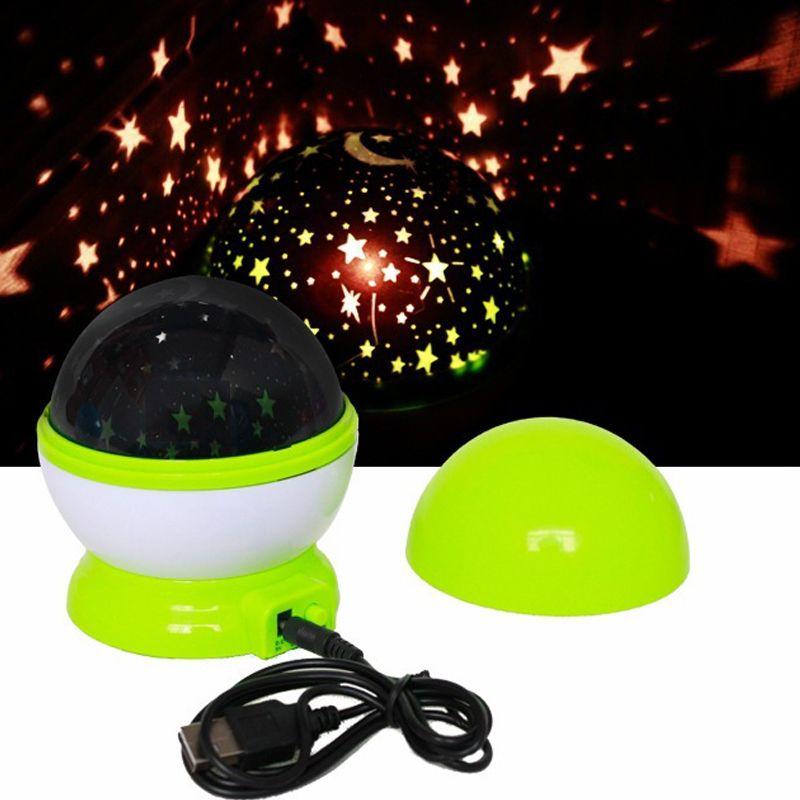 LED veilleuse projecteur étoilé ciel étoile lune maître enfants enfants bébé sommeil romantique coloré LED lampe de Projection avec USB