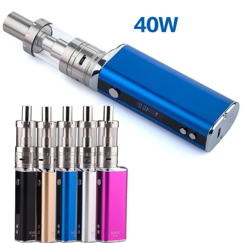 40 Watt einstellbare leistung bildschirm e zigarettenschachtel Mod Starter Kit 40 Watt 3 ml Vape Tank 2200 mah elektronische Zigarette