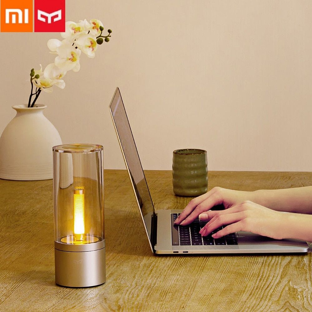 Xiaomi Mijia Yeelight Smart Kerze Licht Indoor Yeelight Nacht Tisch Licht Nacht Lampe Fern Touch Control Smart App Bluetooth