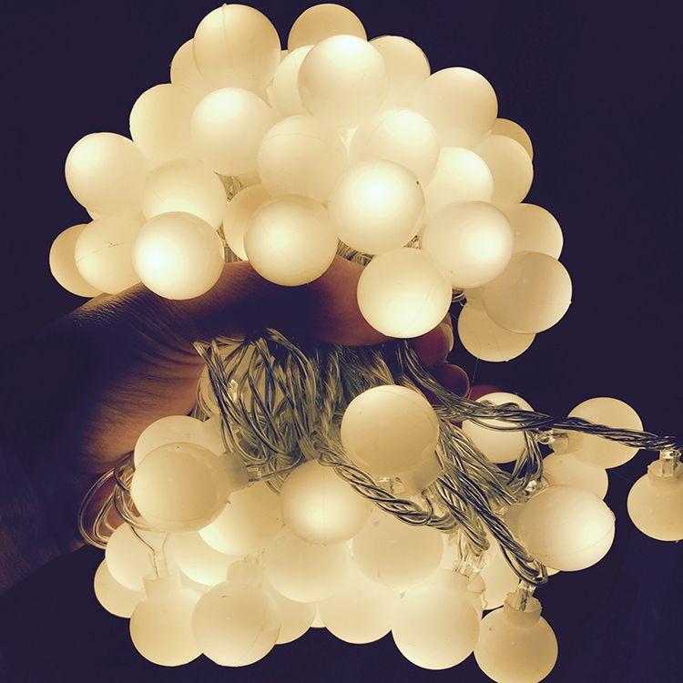 220/110 v 10 m 100 LED Cerise Boule Jeu de Lumières De Mariage De Vacances De Noël En Plein Air Guirlande Décoration de La Maison de Nuit lampe Fée Lumières