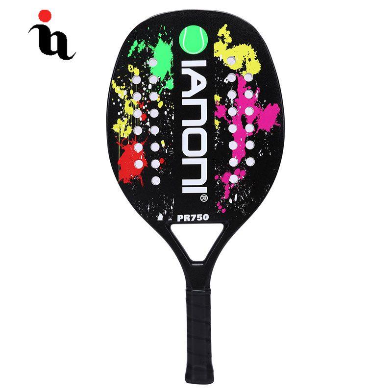 IANONI Strand Männlichen Tennis Schläger Hohe Qualität Sport Padel Raqueta Carbon Fiber Composite EVA Graphit Professionelle Raquete Männer