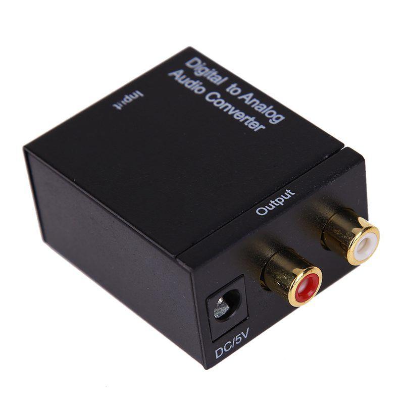 Digital-Analog Audio Converter Toslink RCA Adapter Optical Koaxialtoslink Signal Analog Audio Rca-konverter für TV Box