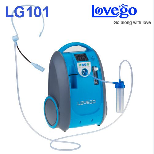Mild and Medium stage disease consumers use 5 liters Lovego portable oxygen concentrator LG101