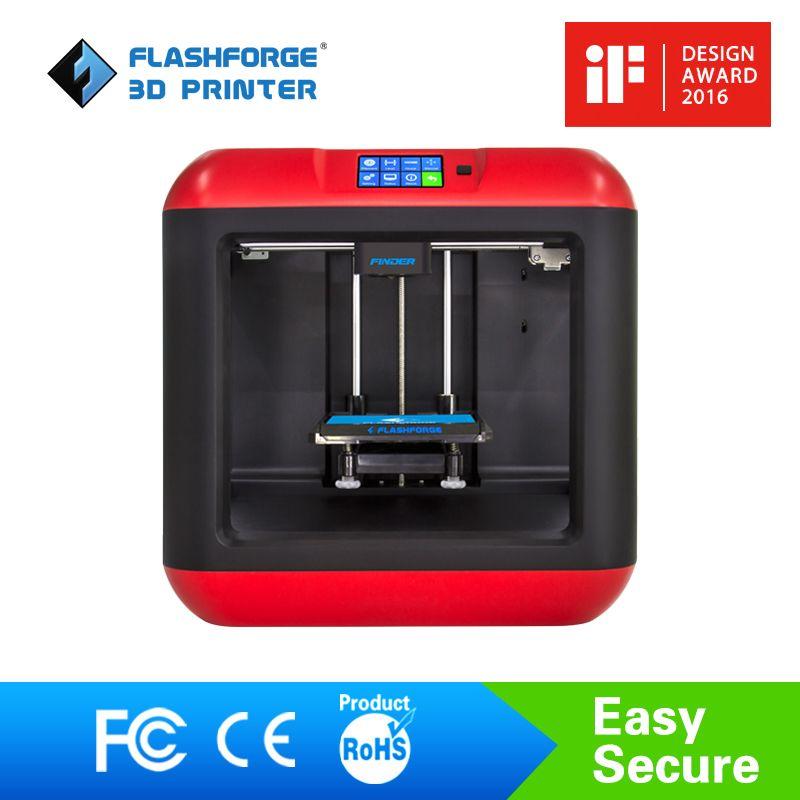 Flashforge 3D Imprimante Finder Diy 3D Imprimante Kit Auto Nivellement Amovible plate-forme Unique extrudeuse avec/1 bobine PLA filament
