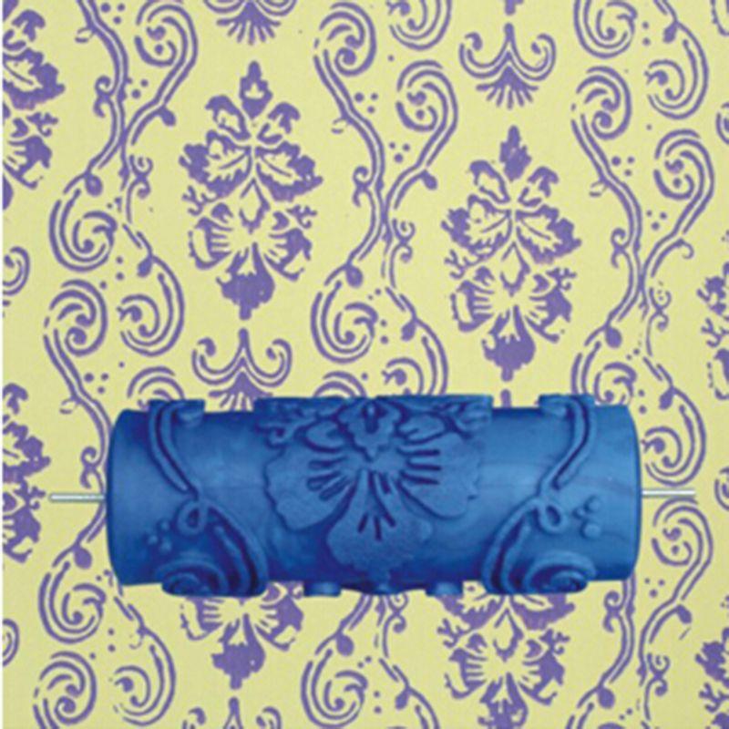 Modèle chaud motif 5 pouces 3D caoutchouc peinture murale décorative rouleau mur motif rouleau 025Y, livraison gratuite