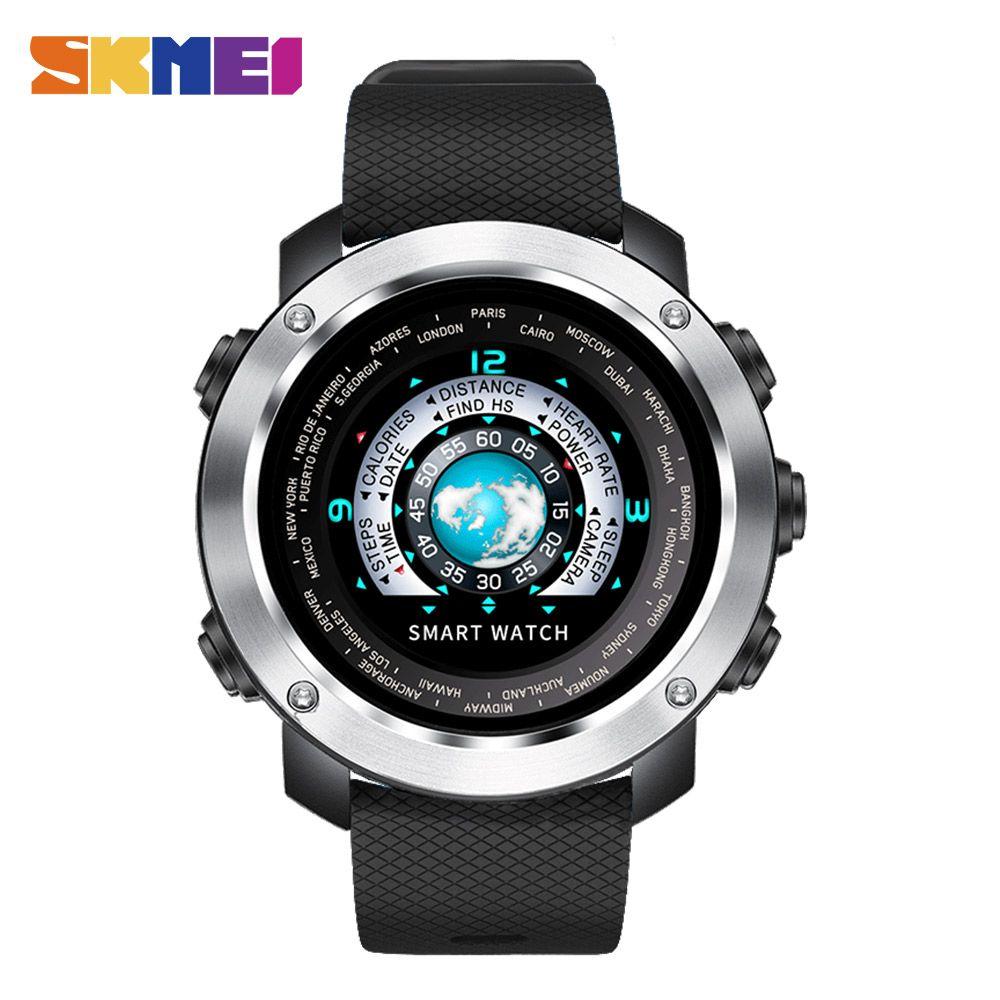SKMEI Smart Digital Watch HeartRate Calories Remote Camera Waterproof Wristwatch Fashion Watch Relogio Masculino Erkek Kol Saati