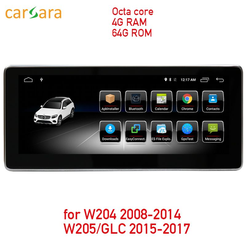 4G RAM 64G ROM Android touchscreen für C Klasse W204 2008-2014 W205 GLC 10,25 display GPS Navigation radio multimedia player