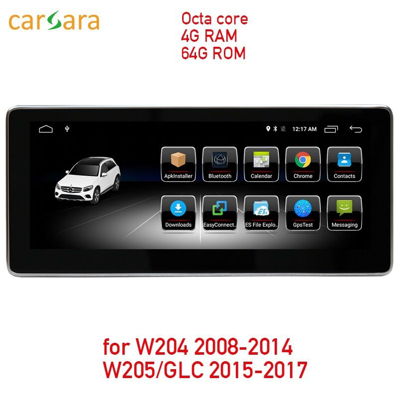 4G RAM 64G ROM Android touchscreen für C Klasse W204 2008-2014 W205 GLC 10,25 display GPS Navigation radio multimedia player