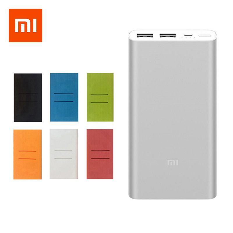 Original Xiaomi Mi Power Bank 2 10000 mAh External Battery portable charginQuick Charge 10000mAh Powerbank Supports 18W Charging