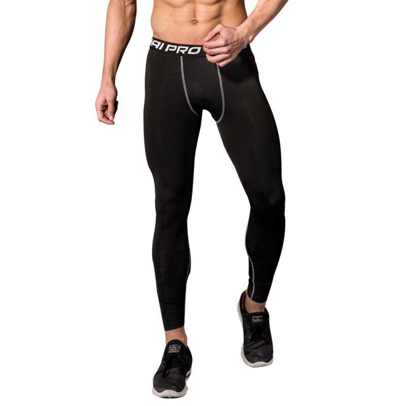 Men Running Tights Men Sports Leggings Sportswear Long Trousers Yoga Pants Winter Fitness Compression Gym Slim Running Tights