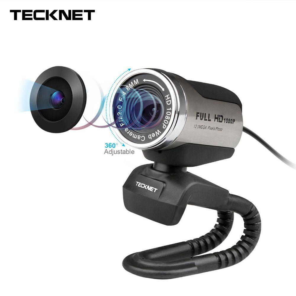 TeckNet 1080P HD Webcam with Built-in Noise-cancelling Microphone 1980x1080 Pixels USB Web Camera for Desktop Laptop Notebook PC
