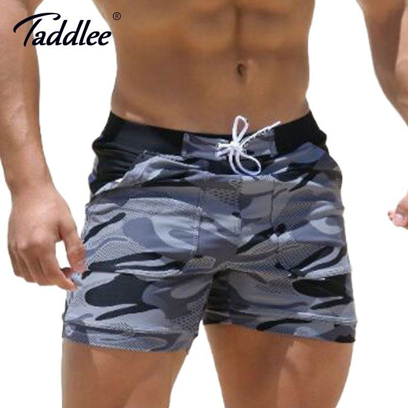 Taddlee Brand Sexy Men's Swimwear Swimsuits Man Plus Big Size XXL Spandex Beach Long <font><b>Board</b></font> Shorts Boxer High Rise Cut Trunks Men