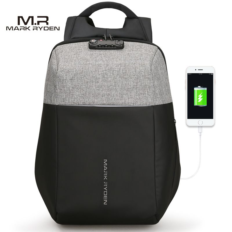 Markryden New Anti-thief USB Recharging Laptop Backpack Hard Shell No Key TSA Customs Lock Design Backpack Men Travel Backpack