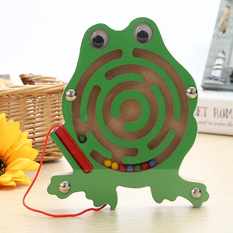 1 Stücke Schöne Kleine Holz Tier Magnetismus Labyrinth Putzen Go Korn Spielt Kinder Holz Puzzle Spiele Einfache