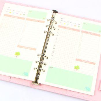 Летние милые серии Тетрадь наполнителя работ A5/A6 Цвет Внутренняя Core планировщик внутри страницы подарок канцелярские