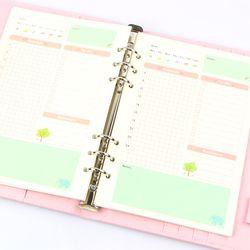 Verano lindo Notebook serie relleno A5/A6 Color núcleo interno planificador página interior papelería regalo