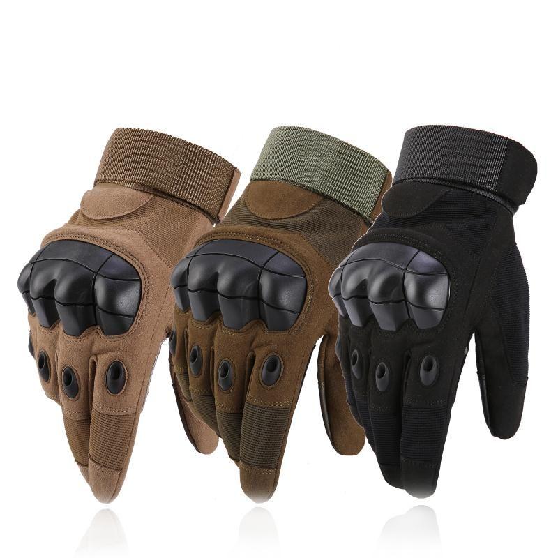 Gants de Knuckle durs tactiques militaires pour hommes pour tirer des gants d'extérieur de moto Airsoft