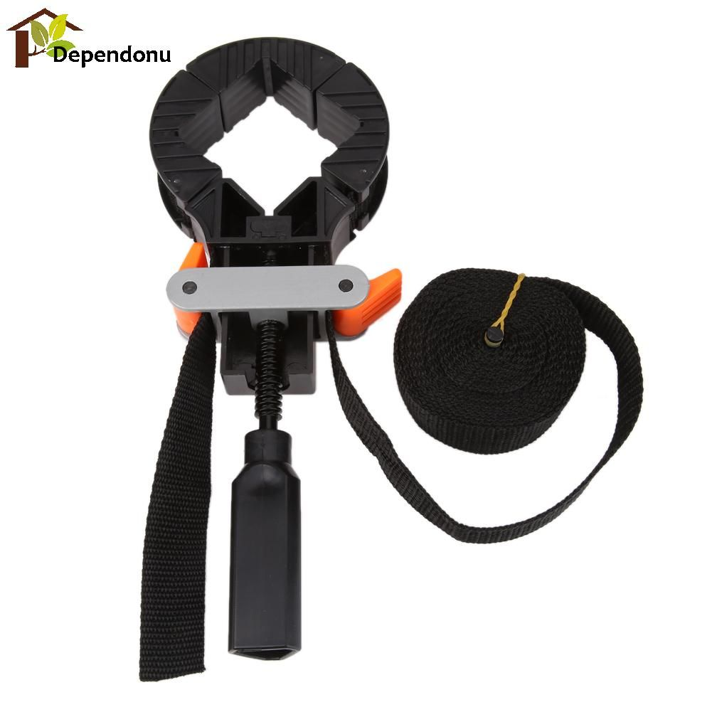 Multifunction Blet Clamp Quick Adjustable Band Corners Clamp Polygonal Clip for Woodworking Picture Framing Art Craft Home Decor