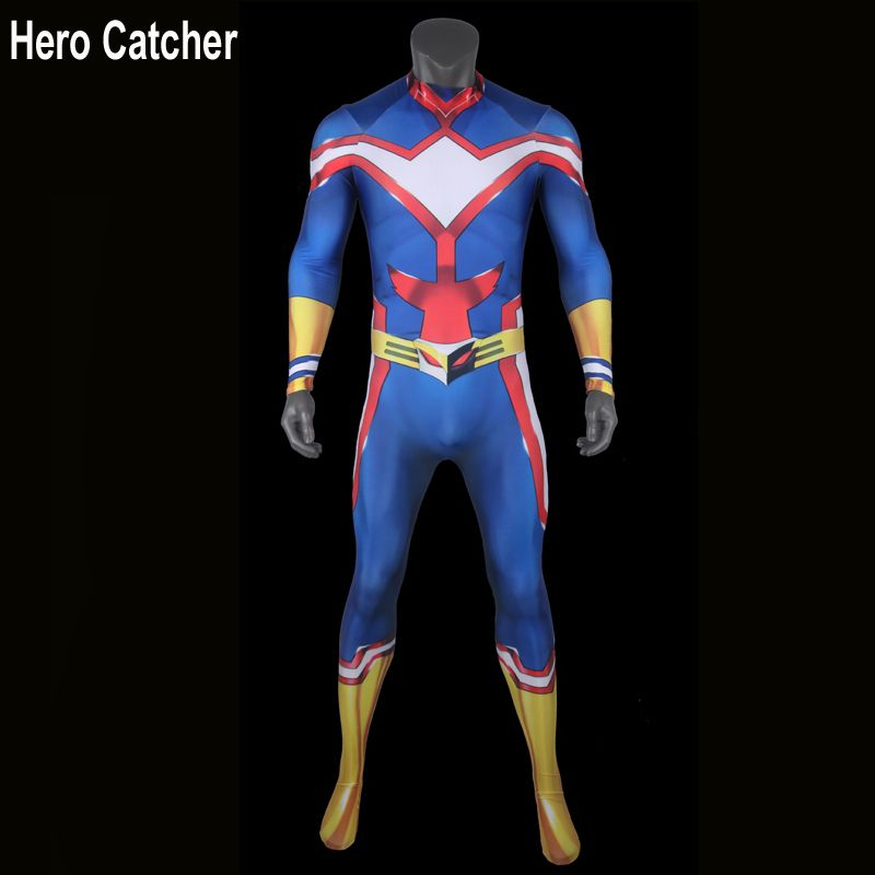 Hero Catcher 4 Top Quality All Might Cosplay Costume Anime All Might Costume For Man Muscle Shade All Might Suit