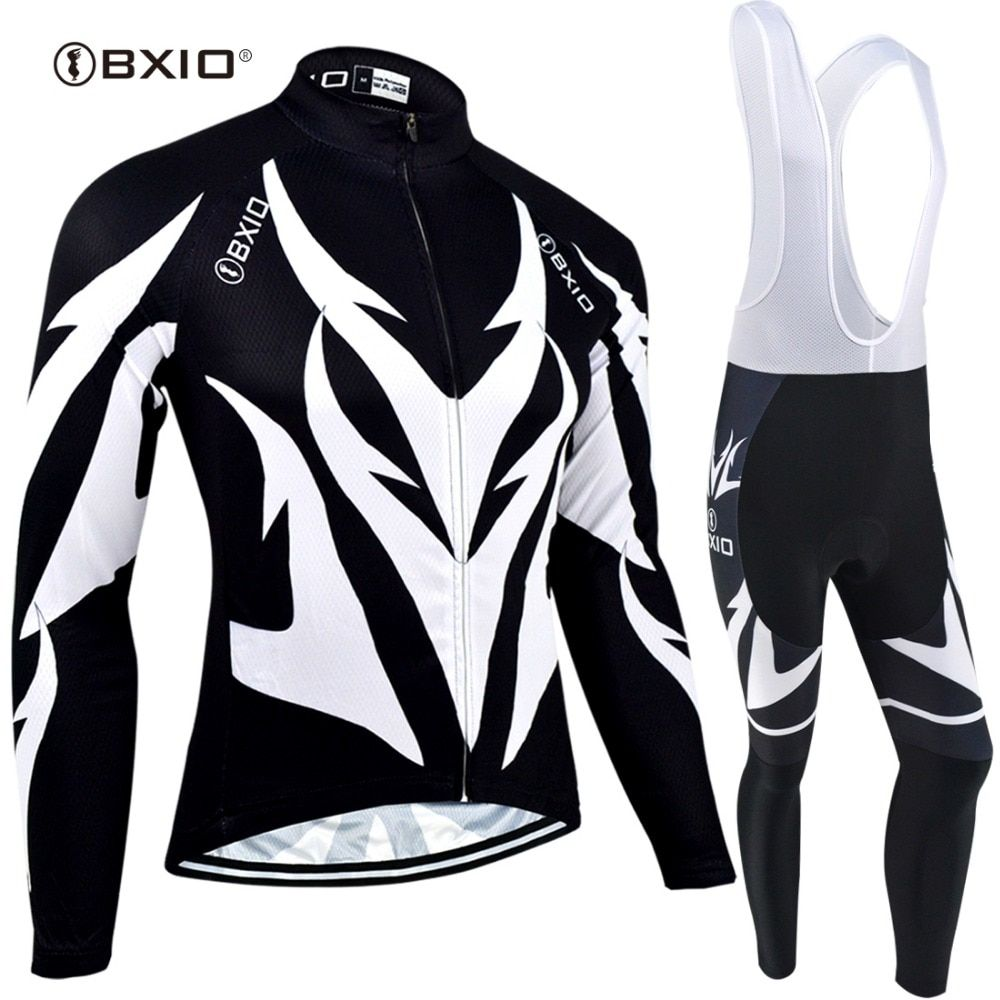 BXIO New Cycling Jersey Sets Long Sleeve Winter Thermal Fleece MTB Cycle Clothes Wear Ropa Ciclismo Sportswear BX-0109H107