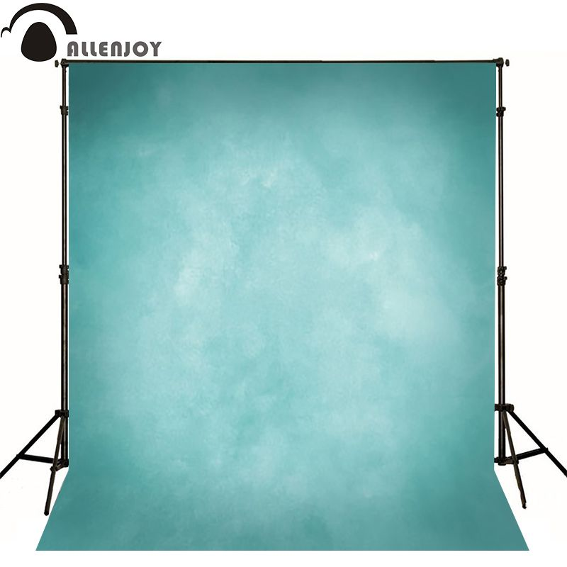 Allenjoy Thin Vinyl cloth photography Backdrop blue Pure Color Photography Background For Studio Photo Props MH-073