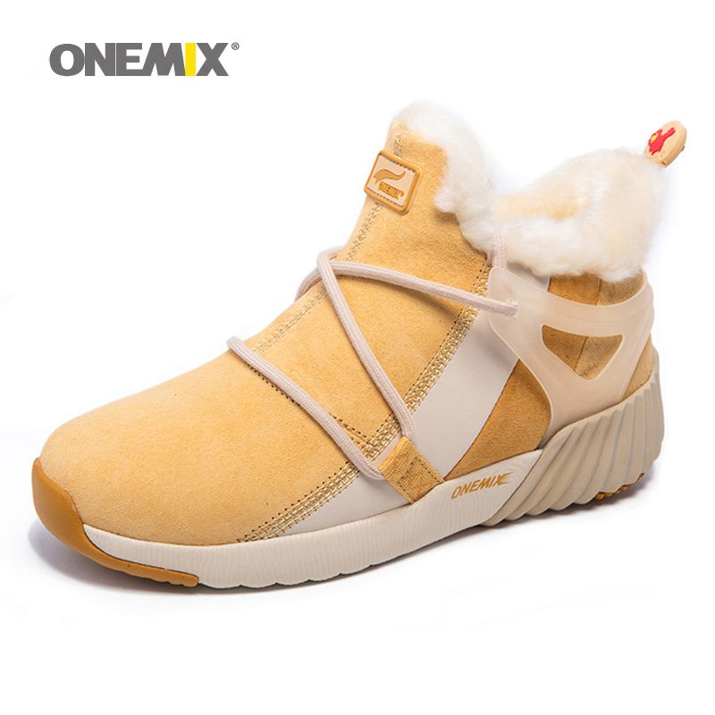 2016 New Winter Women's Snow Boots Keep Warm Sneakers for men Boots Comfortable Running Shoes Walking Outdoor Sport Trainers