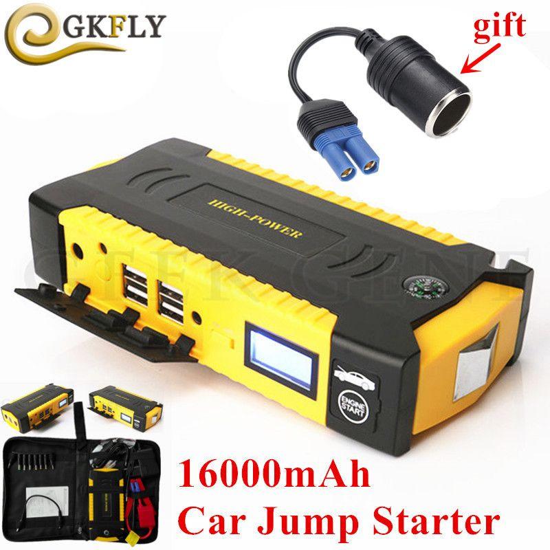 Multi-Function 16000mAh Starting Device 600A 12V Portable Car Starter For Car Battery Booster Emergency Auto Jumper Starter