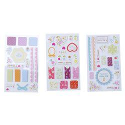 Belle 3 Pack Dentelle Fleur Papier Autocollant DIY Journal Album Scrapbooking Décoration