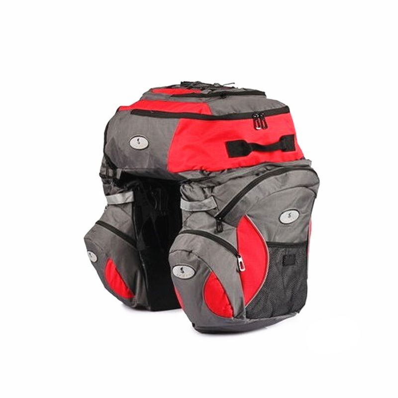 65L Large Cycling Saddle Bags for bicycle Accessories 600D Oxford Waterproof Bicycle Rear Seat Bag Pannier Long-distance Cycling