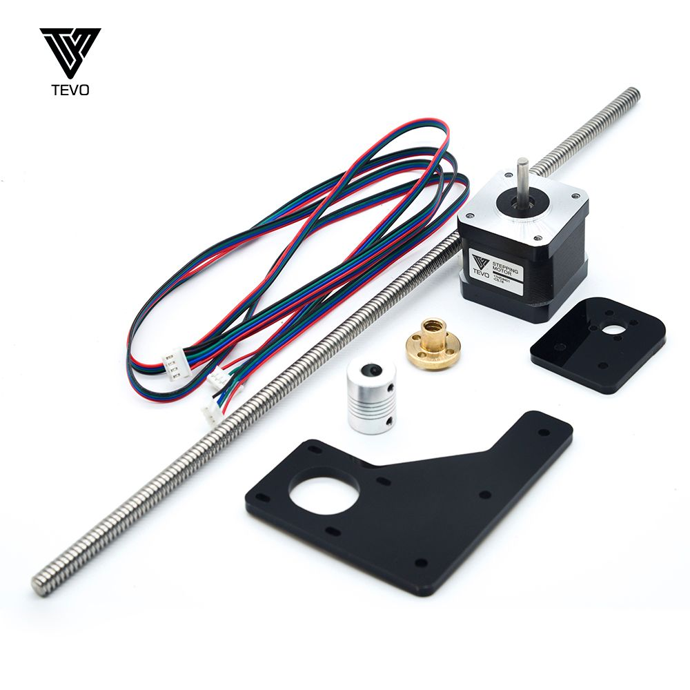 TEVO Dual Z-Axis Upgrade Kit 42 Step Motor & T8 Lead Screw 375mm 8mm with Brass Screw Nut for 3D Printer Part