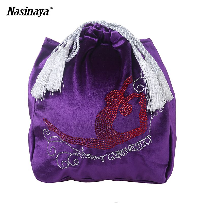 24 Colors Rhythmic Gymnastics Ball Bag RG Professional Protection Velvet Fabric Accessories Red Gym Girl Rhinestone