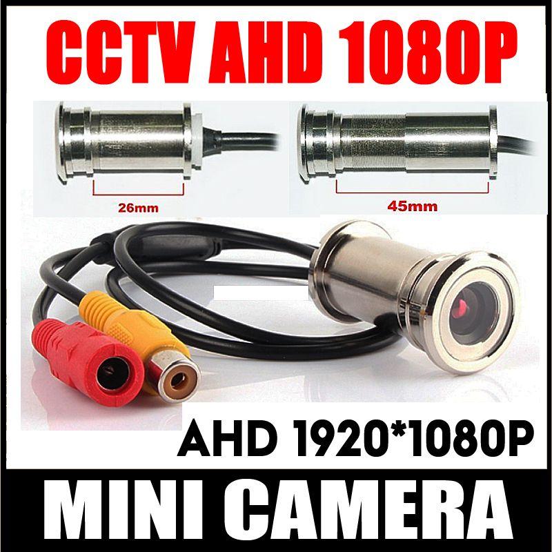 Mini cctv door eye Hole 1080P MINI AHD Camera Brass PeepHole Viewer Detachable home Cat eye Video CCTV MELAT Surveillance Camera