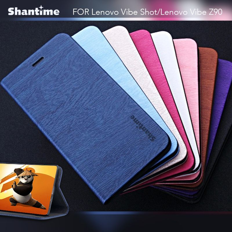 Pu Leather Phone Case For Lenovo Vibe Shot Flip Case For Lenovo S850 Card Slots Business Book Case Soft Silicone Back Cover