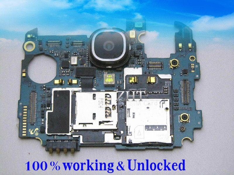 5 pieces / lot Unlocked European Language Original Google Motherboard For GALAXY S4 i9505 LTE 16GB PCB Board Clean IMEI