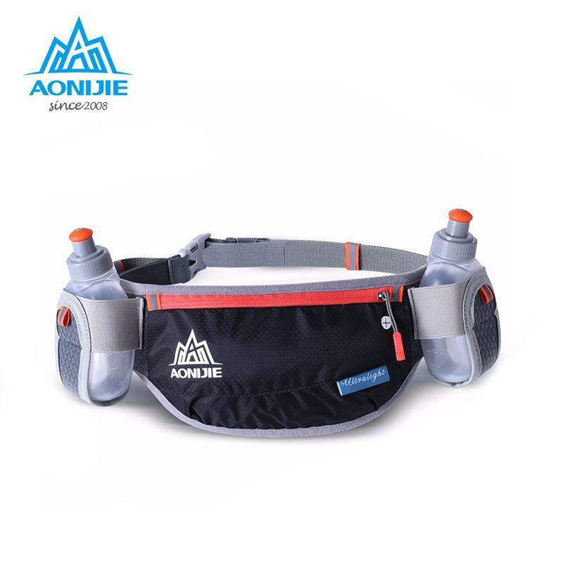 AONIJIE Running Hydration Belts Bottle Holder Belt Reflective Running Water Belt Fanny Pack Men Women Two Type Waist Packs E882