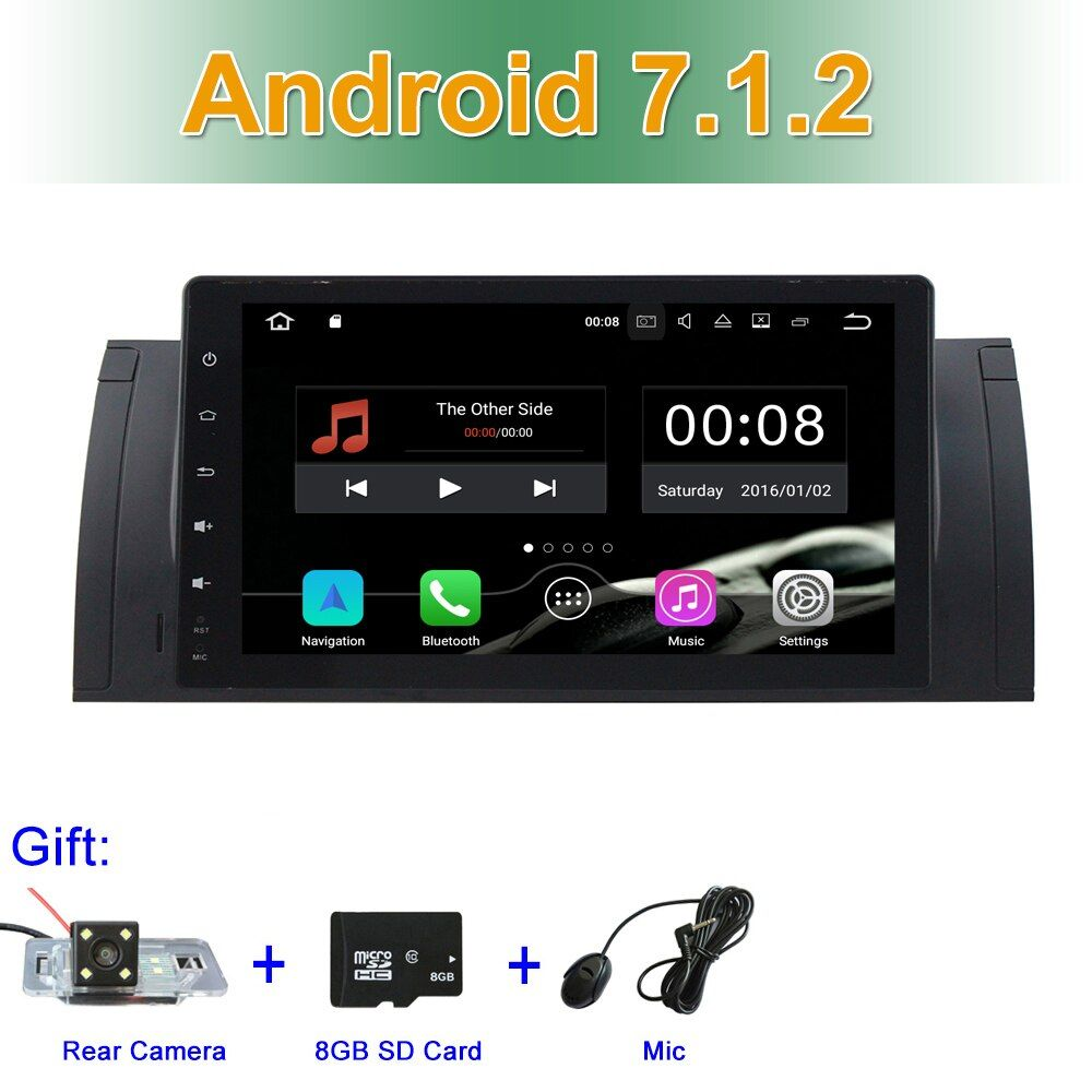 2GB RAM Android 7.1.2 Car DVD Video for BMW 5 Series E39 E53 with Radio BT WIFI GPS