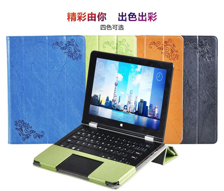 Floral Printed Flip Stand PU Leather Cover Case For Voyo VBook V1 10.1 inch Tablet (can put keyboard) Notebook Shell Bag Sleeve