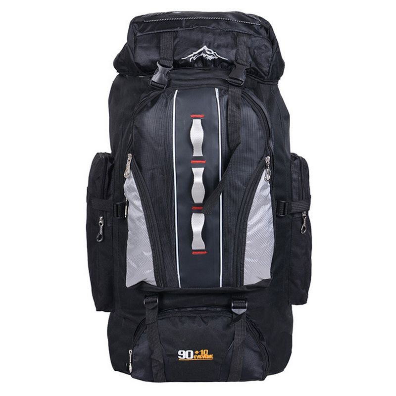 Hot Sports Backpack Male 90L+10L Outdoor Travelling Bag Unisex Hiking Backpack Tactical Rucksack Camping Fishing Bag