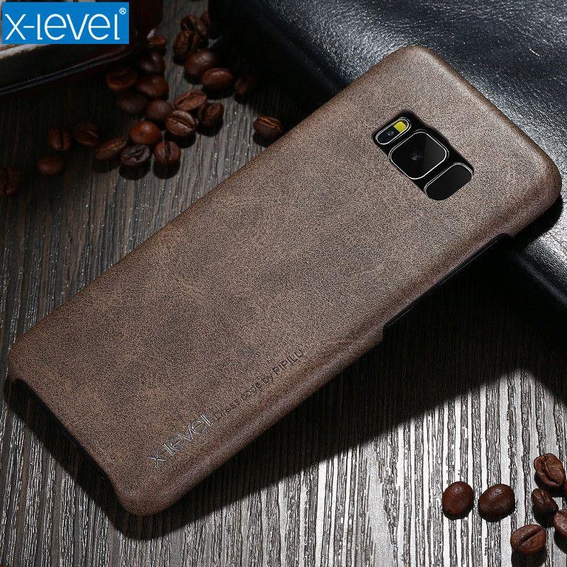 X-Niveau De Luxe Étui En Cuir Pour Samsung Galaxy S8 Ultra Mince Lumière D'origine Téléphone Retour Housse Pour Samsung galaxy S8 Plus