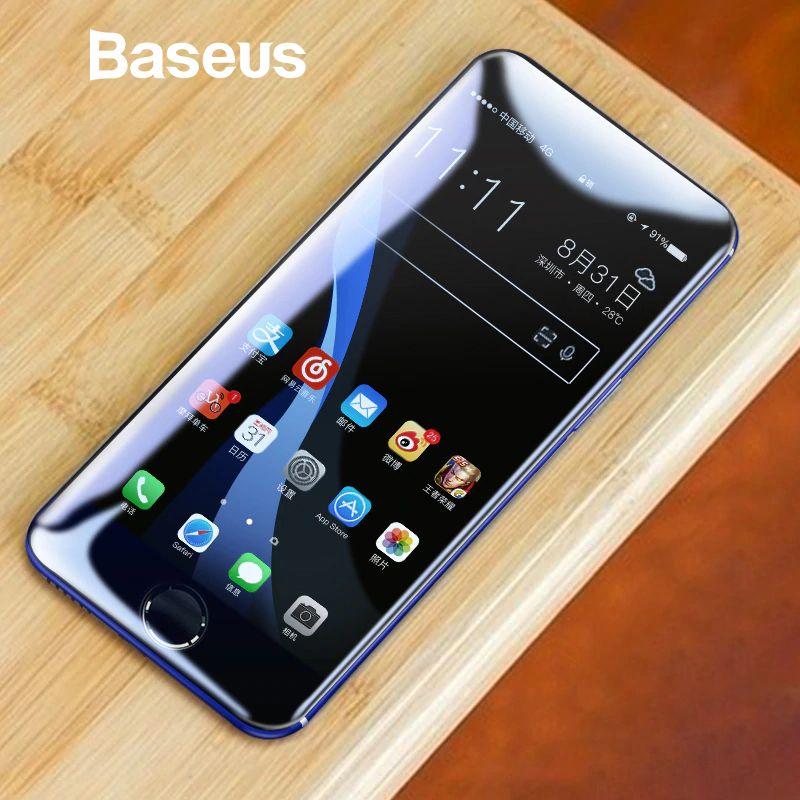Baseus Gehärtetem Glas Für iPhone 7 7 Plus 8 8 Plus X Screen Protector 0,23mm Dünne 3D Volle Bildschirm schutz Für iPhone X Glas