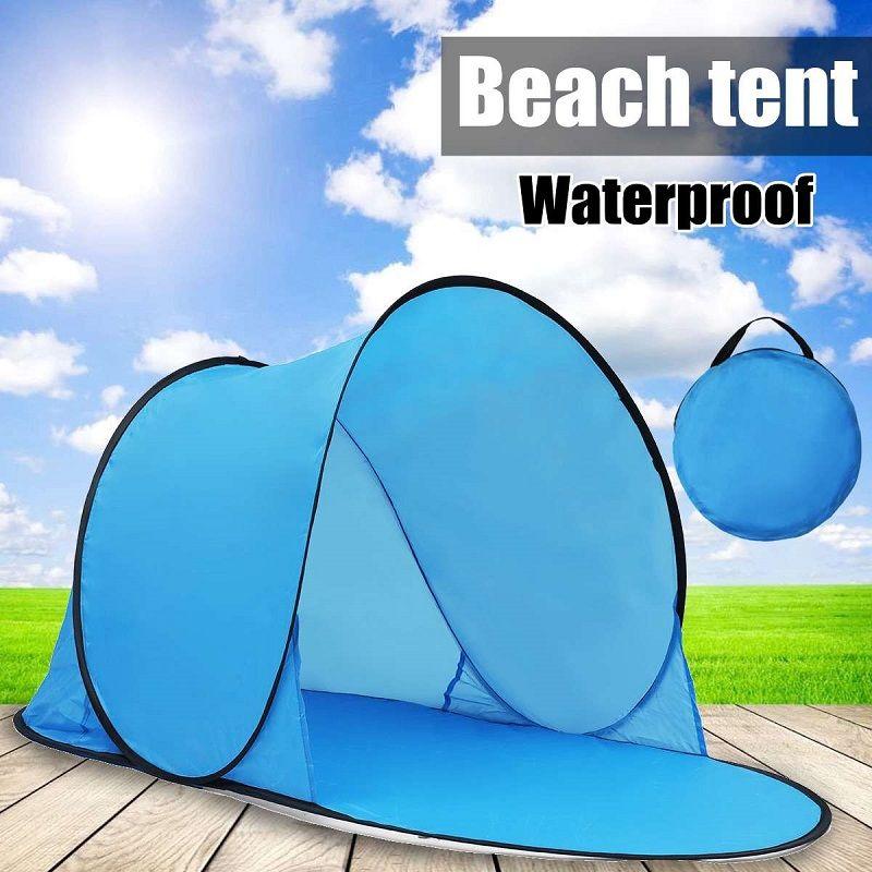 Tente portative extérieure UV de Camping de plage de tente sautent le tapis ouvert de plage se pliant automatique pour 1-2 personne
