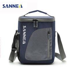SANNE 8.8L охладитель портативный Термосумка для пищи нейлон тепловой контейнер для еды мужская сумка для пикника Tote сумки bolsa almuerzo розовый